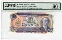 Canada $10 Dollars Banknote 1971 BC-49c PMG GEM UNC 66 EPQ