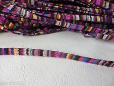 2 m x 7 mm Aztèque (A) plat tissu cordon: sac poignées Bijoux Artisanat