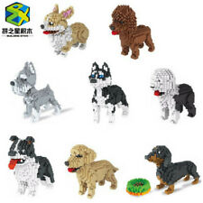 Cute Puppy Dogs Pets Animals Building Bricks Toys Construction Blocks Kits