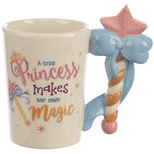 Novelty Shaped Ceramic 3D Princess Wand Coffee Mug New Tea Cup Box Gift for Her