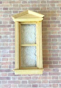 Dollhouse Miniature Wooden House-works  Federal Pediment  Window  #5055
