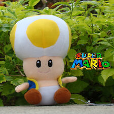 Nintendo Super Mario Bros Runing Game Plush Toy Yellow Toad Stuffed Animal 6.5""