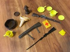Lot Of Marx Johnny West Accessories Parts Holsters Guns Dishes Lantern More