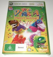 XBOX 360 - VIVA PINATA - PARTY ANIMALS - new & sealed but with minor case damage