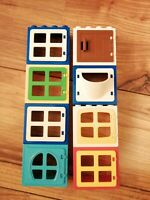 LEGO DUPLO WINDOWS DOORS BLOCKS GOOD CONDITION FREEPOST FARM ZOO HOUSE SET 1