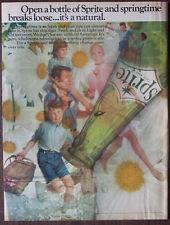 "Print Ad 1968 Sprite Springtime Family Coca Cola Company 10.5""x14"" VG+"