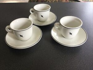 Set of 3 Nespresso Expresso Cups & Saucers Made In Germany Unused
