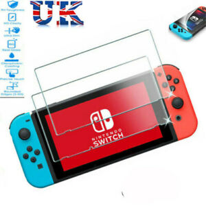 2 Pack Nintendo Switch Console Real Full Screen Tempered Glass Protector Cover