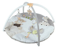 MiniDream Round Baby Playmat Play Gym Play Mat Musical Activity Centre - Beige