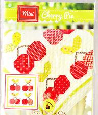 Mini Cherry Pie - cute pieced mini quilt mini PATTERN - Fig Tree