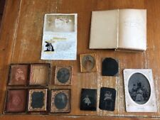 Victorian Photographic & Estate Lot Mabel E Johnston Daguerreotype Ambrotype Tin