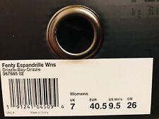PUMA Womens Fenty by Rihanna Riri Gray Espandrille 36768502 Sandals Shoes 9.5