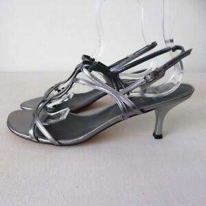 STUART WEITZMAN  Leather Mid Heel Pumps Sandals Size 41.5 Made in Spain