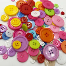 50Pcs 4 Holes Mixed Size Resin Buttons For Craft Round Sewing Scrapbook PT182