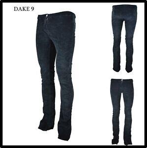 pantaloni da donna a vita bassa elasticizzati leggins campana velluto nero 26 40