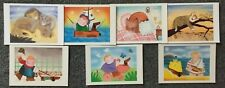 LOT OF 7 POSTCARDS OF PAINTINGS BY SERVELLO