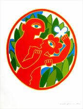Herbert Schneider Vintage 1979 Offset Lithograph Art Print 23 x 16