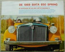 FIAT SIATA 850 SPRING Car Sales Brochure 1969 DUTCH TEXT