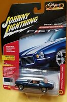 1/64 Johnny Lightning 1970 Chevrolet Camaro RS SS Fathom Blue Poly JLCP7057 B