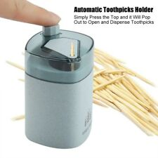 Wheat Straw Automatic Toothpick Holder Container Storage Box Toothpick Dispenser
