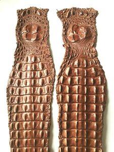 Genuine Crocodile hide skin leather Craft Supply 3 colors