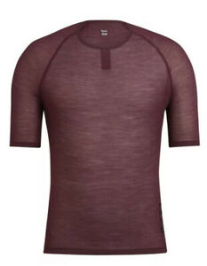 Rapha Merino Mesh SS Base Layer Burgundy BNWT Size L