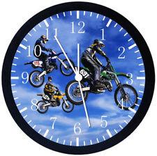 Motorcross Motor Cross Black Frame Wall Clock Nice For Decor or Gifts E131