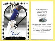 Beau Wimpee 1/1 Auto 2018 Perfect Game Blank Back Black Autograph Baylor Bears