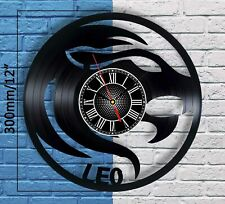 Zodiac Leo Vinyl Record Wall Clock Horoscope Astrology Hanging Decor Sign Art