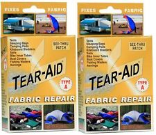Tear Aid Type A Bulk Buy 2 x Retail Gold Kits Canvas, Annexe, Sail, Flag, Repair
