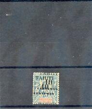 TAHITI Sc 29a(YT 33b)*VF HR, 1903 10c/15c, DOUBLE SURCHARGE, h/s FERRARI, $200