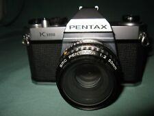 PENTAX K1000 & PENTAX-A 50MM LENS MANUAL 35MM SLR CAMERA EXCELLENT COND