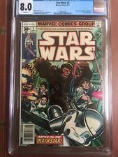 Star Wars 3 CGC 8.0 1983 White Pages Newsstand Original Owner SWEET