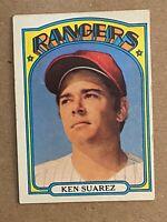 Topps 1972 #483 Ken Suarez - Texas Rangers