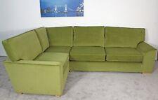 Next Stamford Plush Velvet Olive Fabric Corner Sofa - RRP £1699