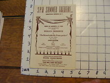 Spa Summer Theatre Saratoga Springs Burgess Meredith Remarkable Mr Pennypacker