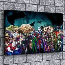 Batman Villains 2 HD Canvas Prints Painting Home Decor Picture Wall Art Poster