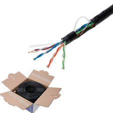 1000Ft CAT5E Waterproof Outdoor Cable Direct Burial UTP Solid LAN Network 24 AWG