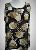 Ladies Plus Size 18/20-22/24-26/28-30/32 New Summer Floral Printed Top Vest-type