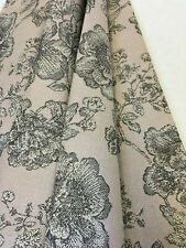 Belfield - Freya, Blush, Pink and Grey,Floral patterned curtain fabric/material