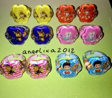 12 x PAW PATROL ANELLI Compleanno Party Bag Filler Chase cielo, Ryder PELUCHE / Auto 4578