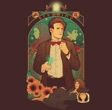 Doctor Who Matt Smith (11th Dr.) Geronimo Tardis Custom Sci-Fi Large Shirt. NEW