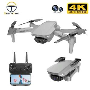 Mini Drone 4k HD Dual Camera Wifi FPV RC Foldable Quadcopter Toy Drones 2020 US
