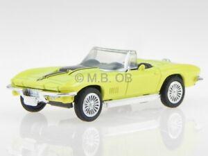 Chevrolet Corvette C2 convertible 1967 amarillo coche en miniatura NewRay 1:43
