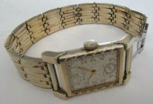 Vintage 1948 7AK 48 Bulova  21 J Manual Wind Men's Watch 10k Gold Filled Working