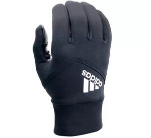 New Original Men's Adidas Shield 3.0 Touchscreen Running Gloves - Black