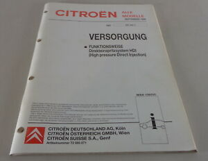 Manual de Taller Citroen Xsava / Xantia/Jumpy Funktionsweise Stand 09/1998