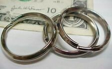 Lot 100 Bright Chrome Key Rings, Keyrings 26mm Diameter Plated Steel, Keys, New