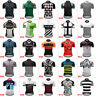 Men's Polyester Cycling Jersey Short Sleeve Bike Shirt Maillots Pockets MTB Tops