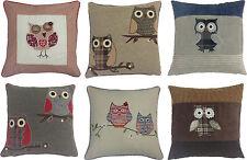 Cotton Blend Owl Floral Decorative Cushions